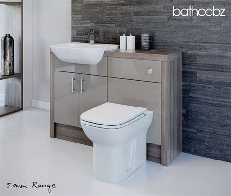 latte driftwood bathroom fitted furniture 1200mm ebay