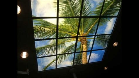 fluorescent lights decorative light panels sky panels images gallery ceiling art and decorative light lens youtube