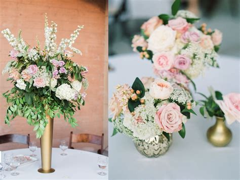 gold vase centerpiece arrangement groupings of small