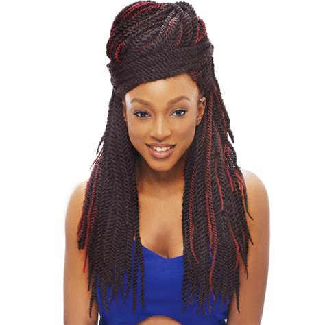 Kanekalon Hair | 2x tantalizing twist janet collection noir kanekalon