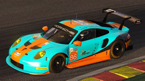 gulf racing porsche 911 rsr 2017 gulf racing racedepartment
