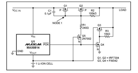 battery switching diode app note battery charger load switch approximates ideal diode 171 dangerous prototypes