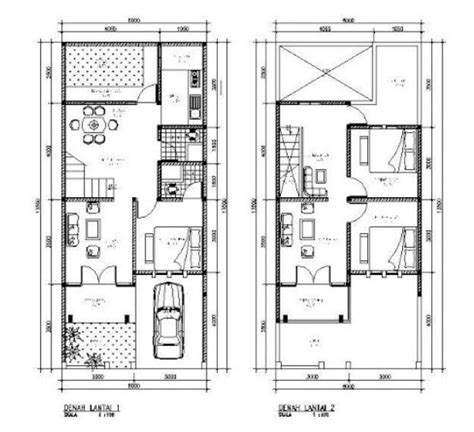 denah rumah minimalis  lantai type  ideas   house pinterest house
