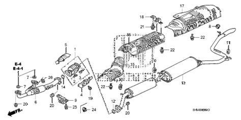 honda odyssey exhaust system diagram honda store 2007 odyssey exhaust pipe muffler parts