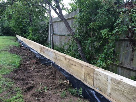 Garden Sleeper Wall by Using Railway Sleepers Dorking Horsham And Crawley