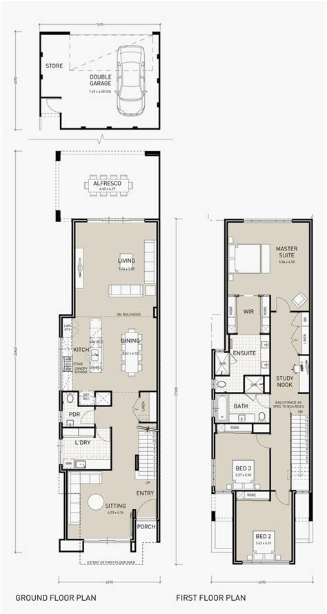 narrow house floor plans unique home plan narrow lot