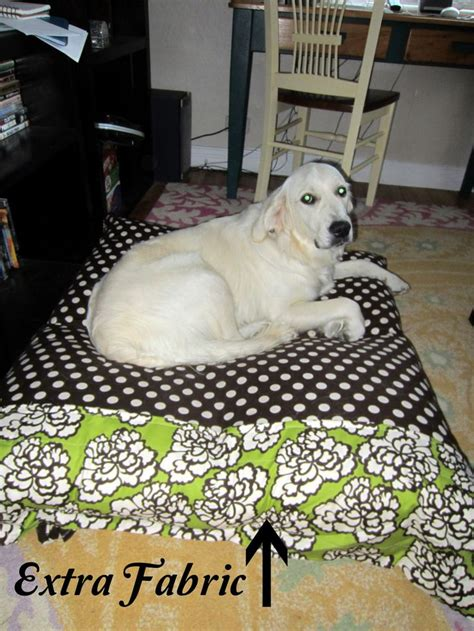dog bed stuffing pinch of zest diy dog bed use 4 thrift store pillows as stuffing the dogs