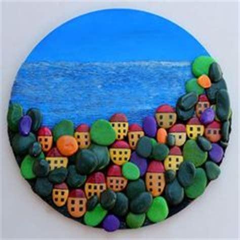 Wandgestaltung Steine Wohnzimmer 976 by Painted Rock Cacti In Painted Pots Design