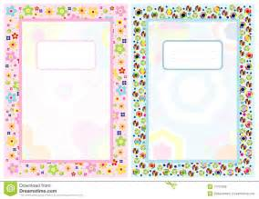 notebook cover page stock vector image of flower symbol