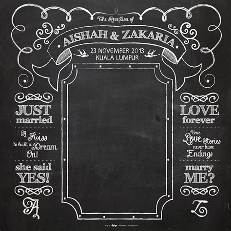 Wedding Backdrop Chalkboard by Chalkboard Backdrop On Behance