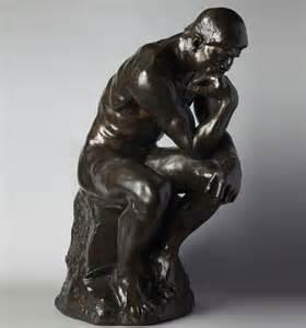 le de le penseur de rodin 71 cm reproduction de sculpture