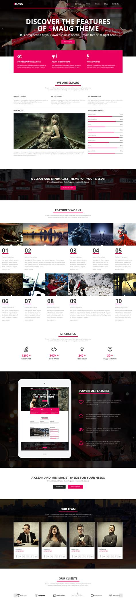 bootstrap html5 css3 template smaug wp mustache