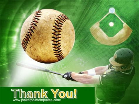 free baseball powerpoint template baseball hit powerpoint template backgrounds 00507