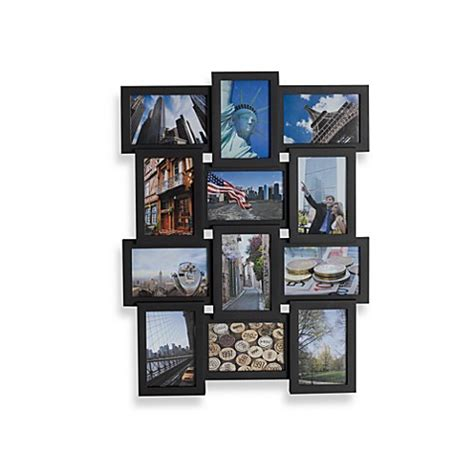Collage 12 Opening Frame In Black Bed Bath Beyond Bed Bath And Beyond Frames