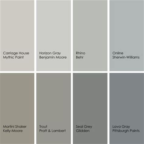 8 enticing grays 1 carriage house 157 3 by mythic paint 2 horizon gray 2141 50 by benjamin