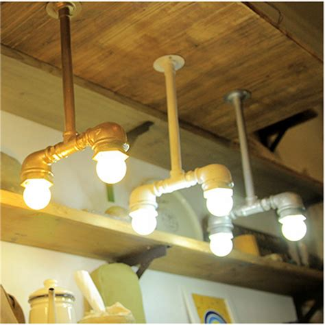 Handmade Ceiling Lights - loft american vintage water pipe lights fashion