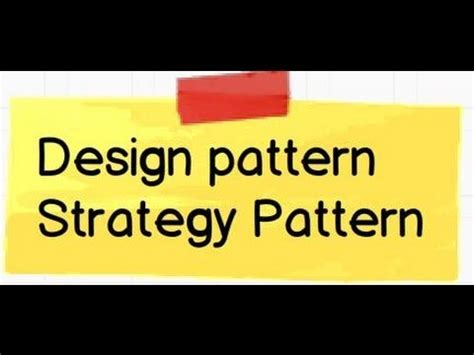 strategy design pattern youtube design pattern what is strategy pattern youtube