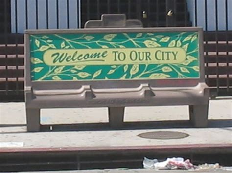 park bench advertising recentering el pueblo bus bench ad
