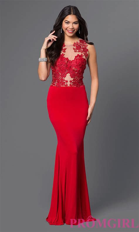 Sleeveless Evening Gown sleeveless evening gown with lace bodice cq 3661dk y