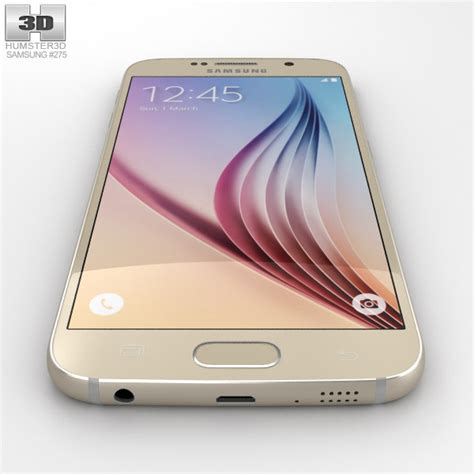 Samsung S6 Platinum Gold samsung galaxy s6 gold platinum 3d model hum3d