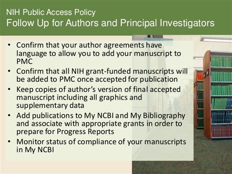 nih grant sections nih public access policy