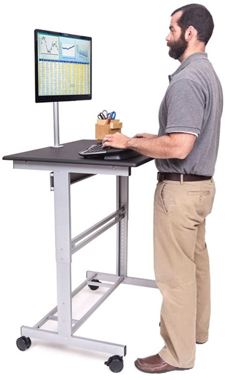 standing desk on wheels mobile standing desk on wheels