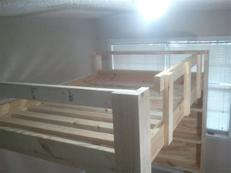 how to build a full size loft bed full size loft bed february 2013 by jsb lumberjocks