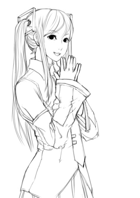 The Gallery For Gt Vocaloid Miku Coloring Pages Vocaloid Coloring Pages