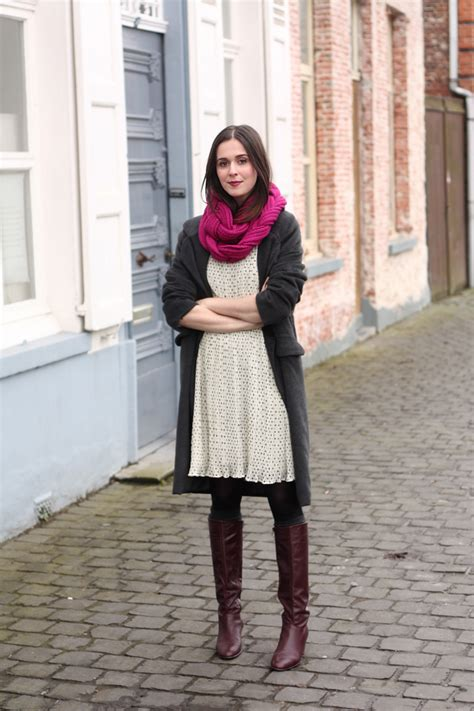 dotted dress knee high boots the styling dutchman