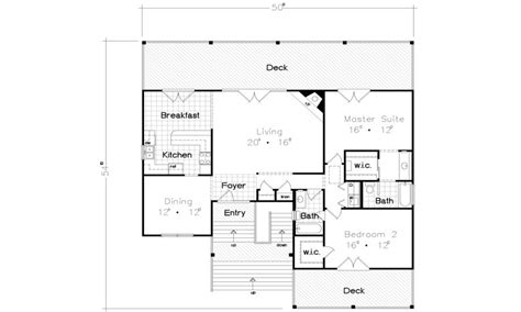 beach house building plans beach bungalow house floor plan cottages and bungalows