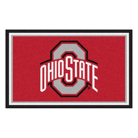 Ohio State Outdoor Rug Fanmats Ohio State 4 Ft X 6 Ft Area Rug 6266 The Home Depot