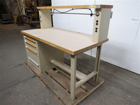 stanley work bench stanley vidmar 4 drawer work bench station 6 x3 butcher block lamanite top ebay
