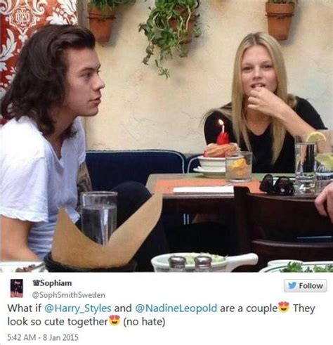 harry styles tattoo for nadine are harry styles and nadine leopold actually dating