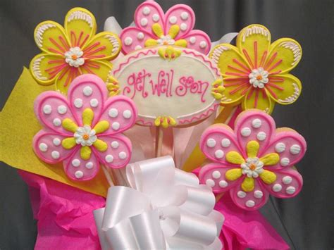 get well soon flower cookie bouquet sugarshackscia for