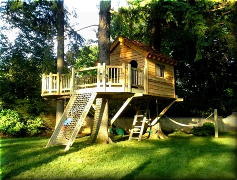 tree house siding ideas a west chester ny tree house with a cargo net slide hammock with adirondack siding