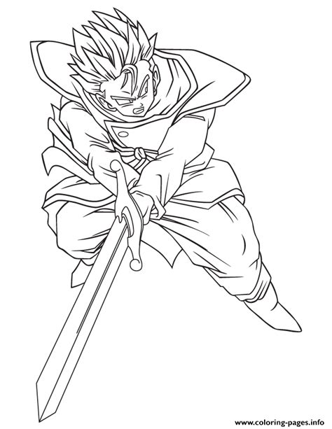 Coloring Pages Of Z Characters z trunks character coloring page coloring