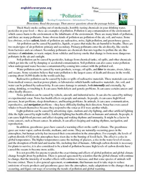 Free Printable 7th Grade Reading Comprehension Worksheets by Free Eighth Grade Comprehension Worksheets Free 8th