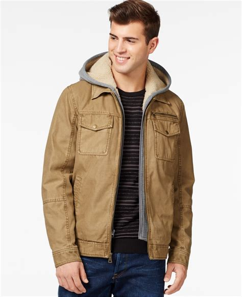 Jaket Hondie Guees guess trucker jacket with removable in for lyst