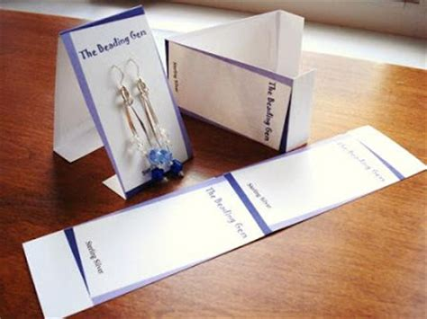 diy earring card template your own earring cards the beading gem s journal