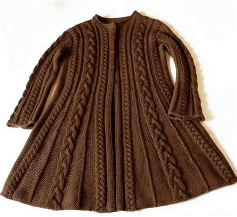 coat knitting pattern knit wool cable sweater coat cable knit sweater many