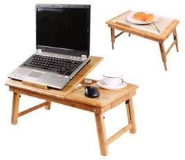 table de lit pliable pour ordinateur portable avec ventilateur