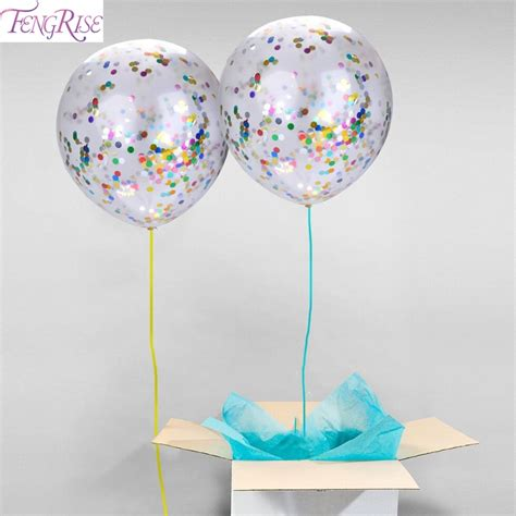 Balon Aniversary 5pcs 1 fengrise 5pcs confetti balloon baby shower 12inch clear ballon birthday