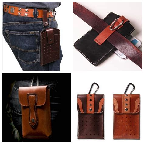 fashion leather wallet belt clip pouch holster