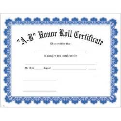 a b honor roll certificate template a b honor roll blue uw certificate jones school supply