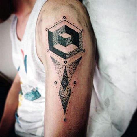 tattoo minimalist arm geometric 3d minimalist guys arm tattoos tattoo designs