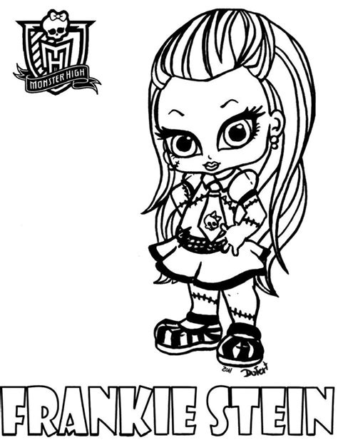 dibujos para colorear de monster high de beb s dibujos dibujos de monster high de beb 233 s frankie stein i