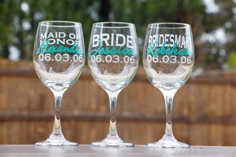 Wedding Gift Wine Glasses by Bridal Wine Glasses Bridesmaid Gifts Wedding