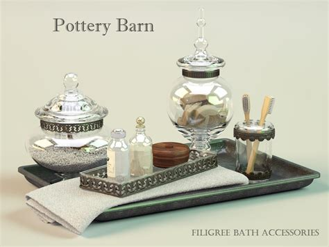 pottery barn bathroom accessories max pottery barn filigree bath