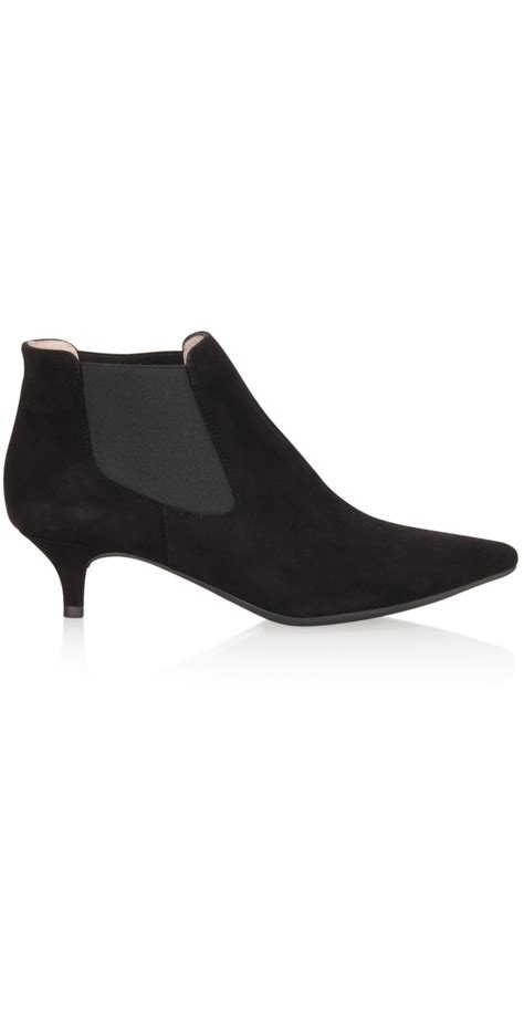 unisa shoes jeoni kitten heel ankle boot in black