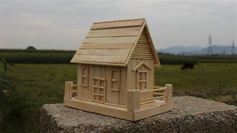 how to make a popsicle stick house simple tutorial
